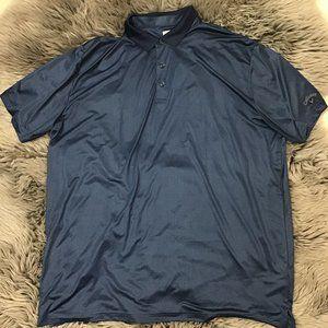 Callaway Men's Golf Shirt   Blue   patterned   XL